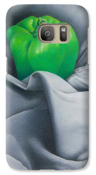 Galaxy Case featuring the painting Simply Green by Pamela Clements