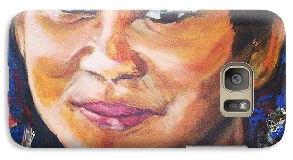 Galaxy Case featuring the painting Simply Moi by Belinda Low