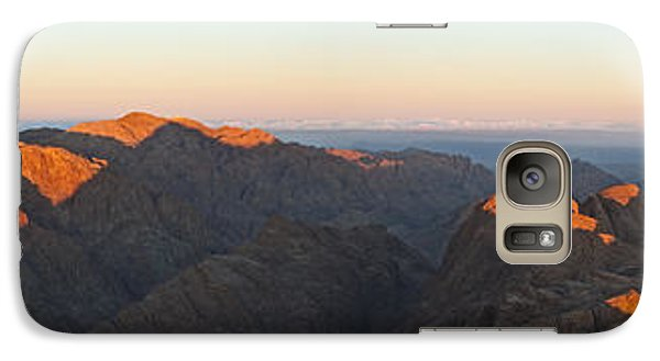 Galaxy Case featuring the pyrography Sinai View From St. Catherine Montain On Sunrise by Julis Simo
