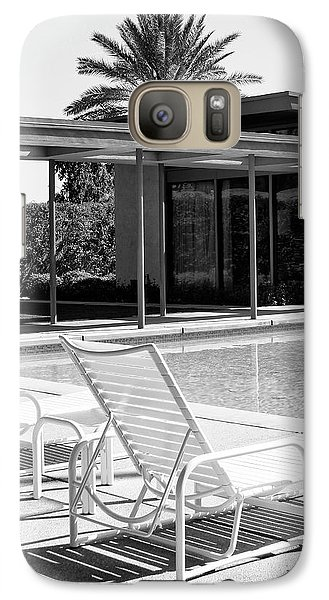 Sinatra Pool Bw Palm Springs Galaxy S7 Case by William Dey