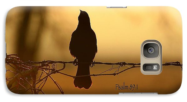 Galaxy Case featuring the photograph Sing by Lynn Hopwood