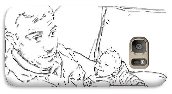 Galaxy Case featuring the drawing Sing Me To Sleep Daddy by Olimpia - Hinamatsuri Barbu