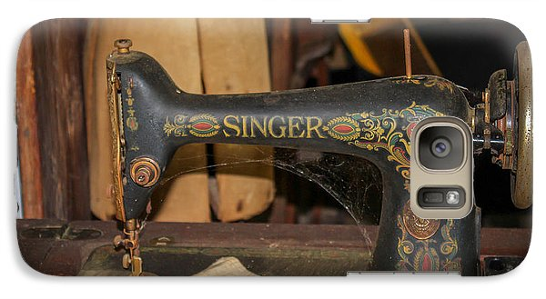 Galaxy Case featuring the photograph Singer Sewing Machine  by Trace Kittrell