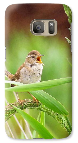 Galaxy Case featuring the photograph Singing For A Companion by I'ina Van Lawick