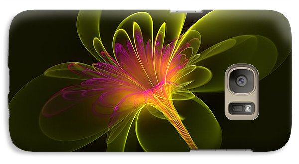 Galaxy Case featuring the digital art Single Flower by Svetlana Nikolova