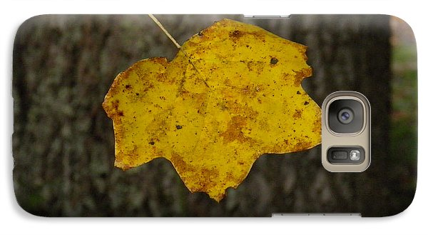 Galaxy Case featuring the photograph Single Poplar Leaf by Nick Kirby