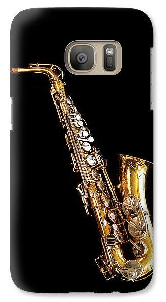 Single Saxophone Against Black Galaxy S7 Case