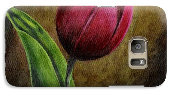 Galaxy Case featuring the painting Single Tulip by Jesslyn Fraser