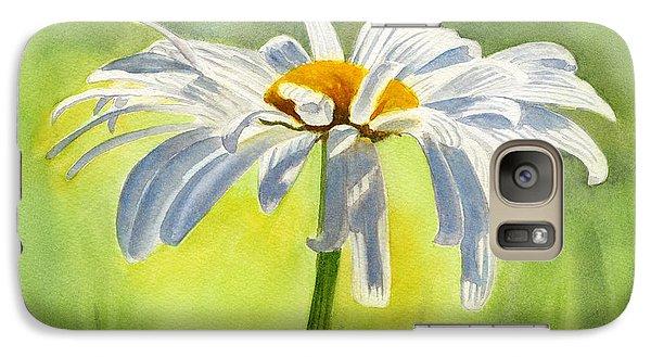 Daisy Galaxy S7 Case - Single White Daisy Blossom by Sharon Freeman