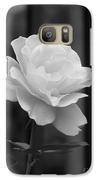Galaxy Case featuring the photograph Single White Rose by Chad and Stacey Hall