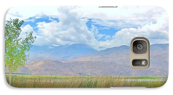 Galaxy Case featuring the photograph Singular In The Summer by Marilyn Diaz