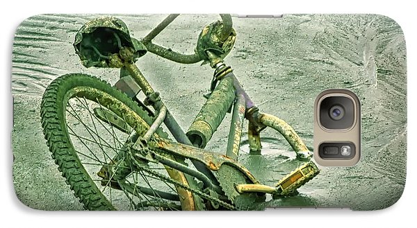 Galaxy Case featuring the photograph Sinking Bike In Mud by Gary Slawsky