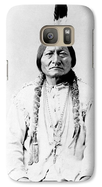 Bull Galaxy S7 Case - Sioux Chief Sitting Bull by War Is Hell Store