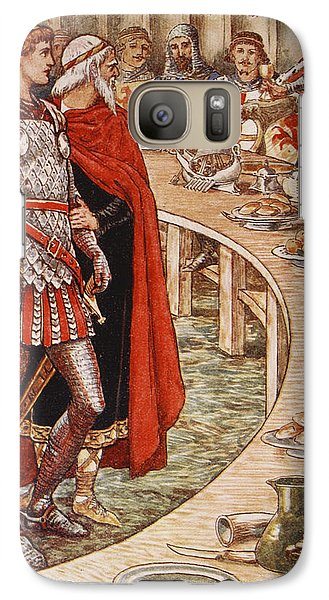 Sir Galahad Is Brought To The Court Of King Arthur Galaxy S7 Case by Walter Crane