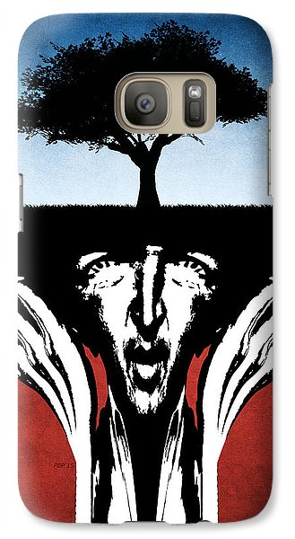 Galaxy Case featuring the digital art Sir Real by Phil Perkins
