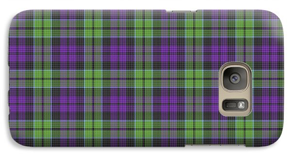 Galaxy Case featuring the digital art Sir Walter Scott Purple And Green by Gregory Scott