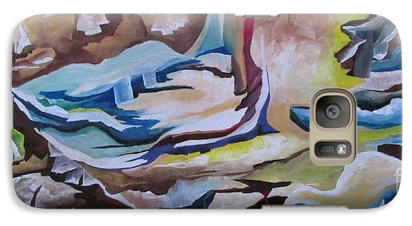 Galaxy Case featuring the painting Sirens by Nereida Rodriguez