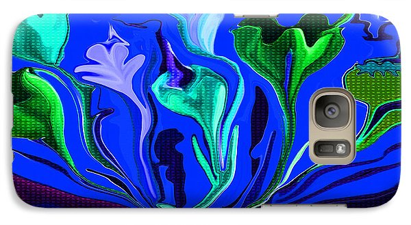 Galaxy Case featuring the painting Sister Of The Red Dream I Must Be In A Dream The Flowers Are Dancing by Sherri  Of Palm Springs