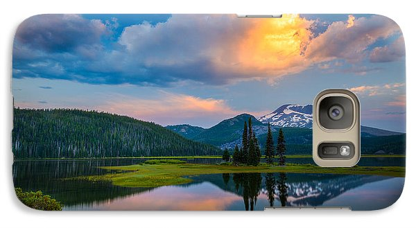 Galaxy Case featuring the photograph Sister Sunrise At Sparks Lake by Chris McKenna