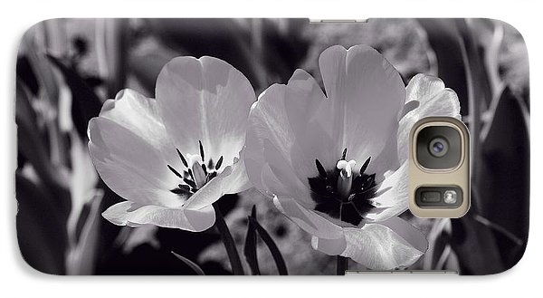 Galaxy Case featuring the photograph Sister Tulips by Lynn Hopwood