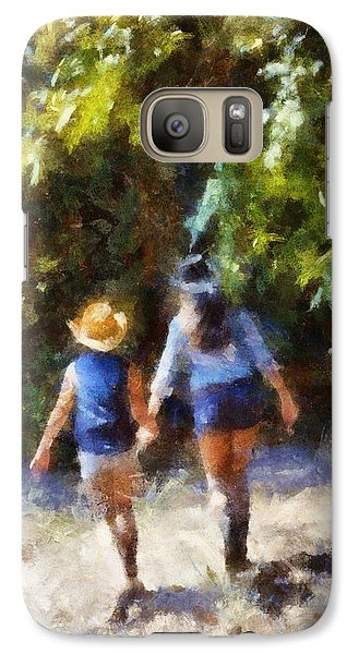 Galaxy Case featuring the digital art Sisters by Carrie OBrien Sibley
