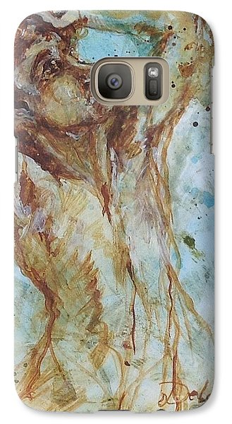 Galaxy Case featuring the painting Sisyphus by Delona Seserman