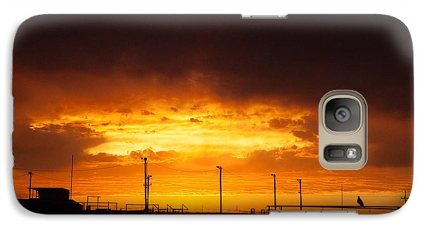 Galaxy Case featuring the photograph Sit A Spell Sunset by Shirley Heier
