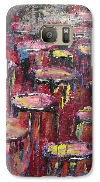 Galaxy Case featuring the painting Sit And Stay A While by Lucy Matta