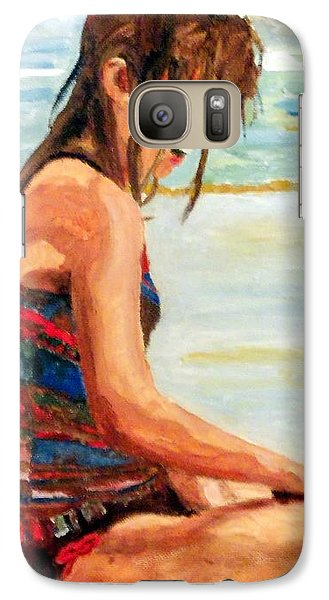 Galaxy Case featuring the painting Sit'n In The Surf by Jim Phillips