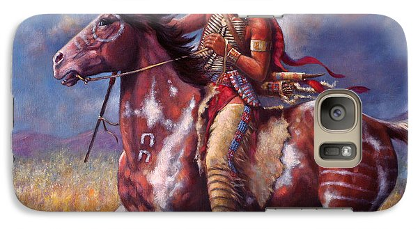 Galaxy Case featuring the painting Sitting Bull by Harvie Brown
