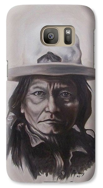 Galaxy Case featuring the painting Sitting Bull by Michael  TMAD Finney