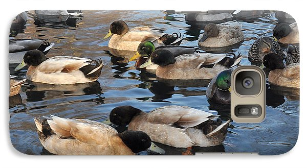 Galaxy Case featuring the photograph Sitting Ducks by Diane Lent