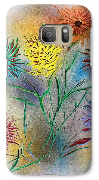 Galaxy Case featuring the painting Six Flowers by Greg Moores