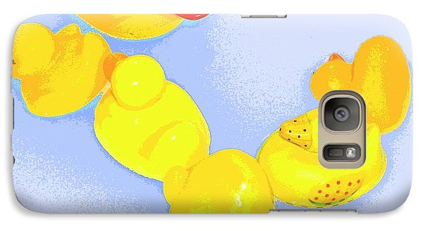 Galaxy Case featuring the digital art Six Rubber Ducks by Valerie Reeves