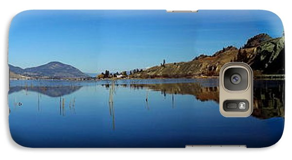 Galaxy Case featuring the photograph Skaha Lake Kayaking Panorama by Guy Hoffman