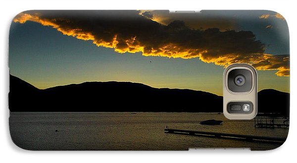 Galaxy Case featuring the photograph Skaha Lake Sunset July02/2013 by Guy Hoffman