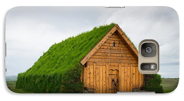 Skalholt Iceland Grass Roof Galaxy S7 Case