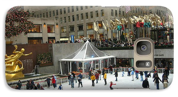 Galaxy Case featuring the photograph Skating In Rockefeller Center by Judith Morris