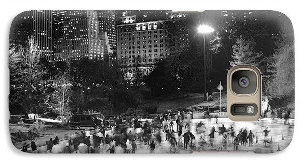New York City - Skating Rink - Monochrome Galaxy S7 Case