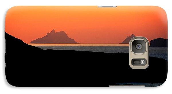 Puffin Galaxy S7 Case - Skellig Islands  by Aidan Moran
