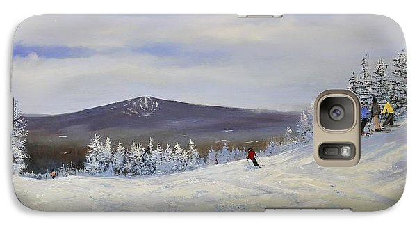 Galaxy Case featuring the painting Ski Talk by Ken Ahlering