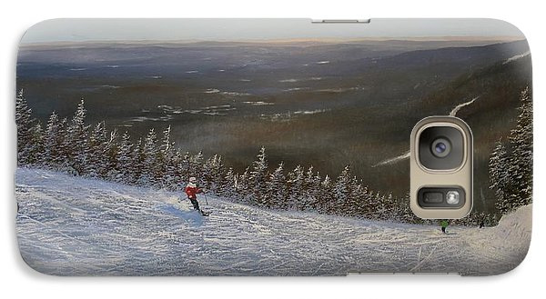 Galaxy Case featuring the painting Ski With Me by Ken Ahlering