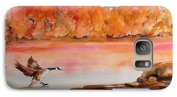 Galaxy Case featuring the painting Skid by Ellen Canfield