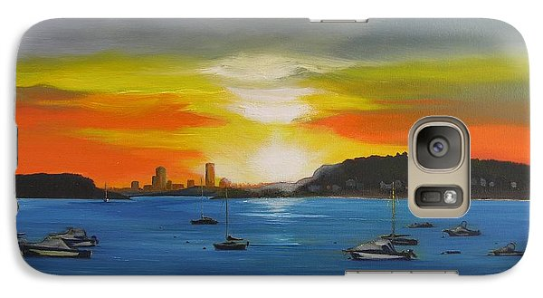 Galaxy Case featuring the painting Skies Over The City by Barbara Hayes