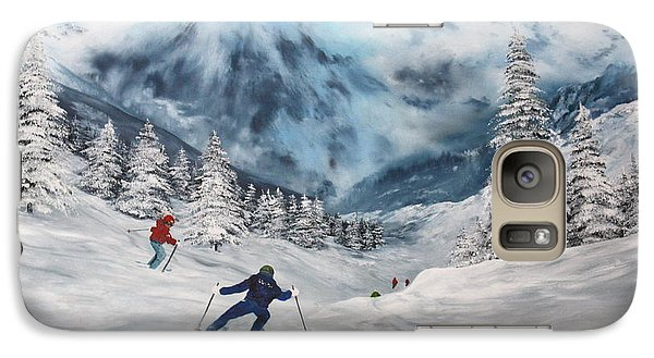 Galaxy Case featuring the painting Skiing In Italy by Jean Walker