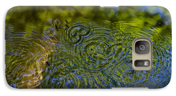 Galaxy Case featuring the photograph Skipper Ripples by Adria Trail