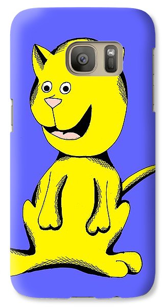 Galaxy Case featuring the drawing Skittle Smiling In Toy Colors by Pet Serrano