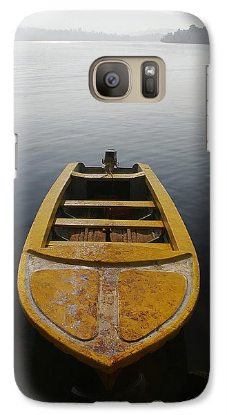 Galaxy Case featuring the photograph Skc 0042 Calmness Anchored by Sunil Kapadia
