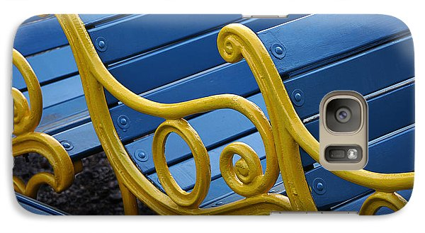 Galaxy Case featuring the photograph Skc 0246 The Garden Benches by Sunil Kapadia