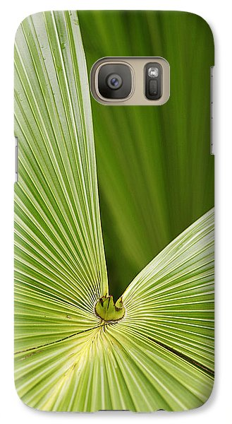 Galaxy Case featuring the photograph Skc 0691 The Paths Of Palm Meeting At A Point by Sunil Kapadia